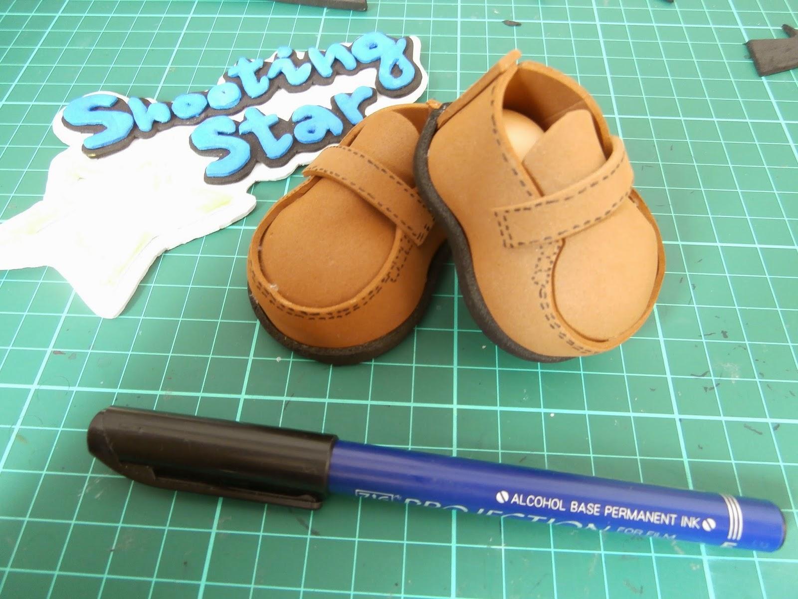 DIY zapato goma eva