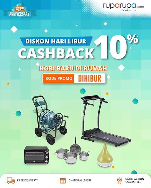 #RupaRupa - #Promo Didskon Hari LIbur Cashback 10% (s.d 26 April 2020)