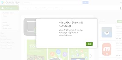 instal melalui google play store via smartphone atau pc