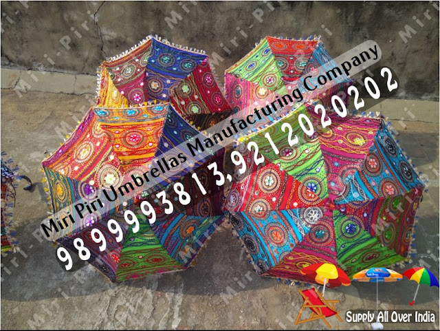Handmade Umbrella Manufacturers, Rajasthani Handmade Parasols Umbrellas, Wedding Handicraft Umbrellas, Embroidered Umbrellas, Fashion Umbrellas, Trendy Umbrellas, Traditional Umbrellas,