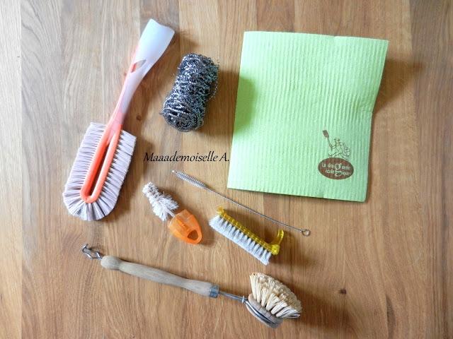 || Mes accessoires pour faire sa vaisselle à la main de façon (presque) zéro déchet