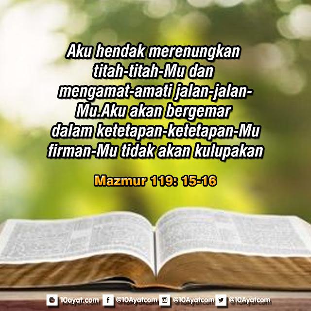 Mazmur 119: 15-16