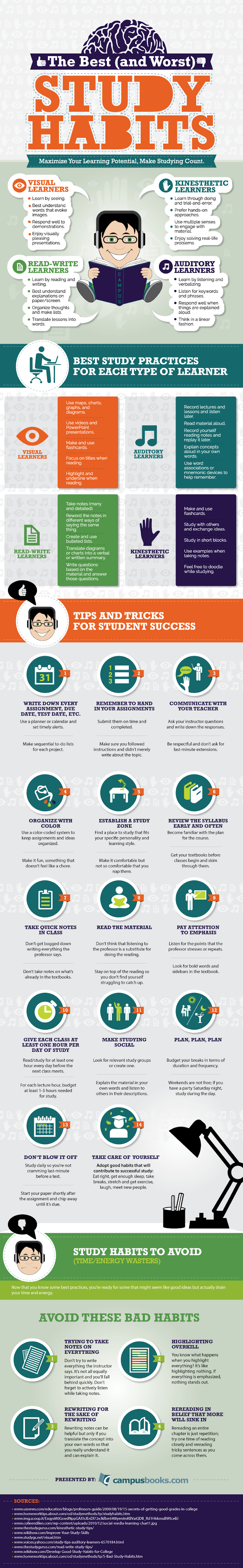 Study Habits to Study Smarter #Infographic