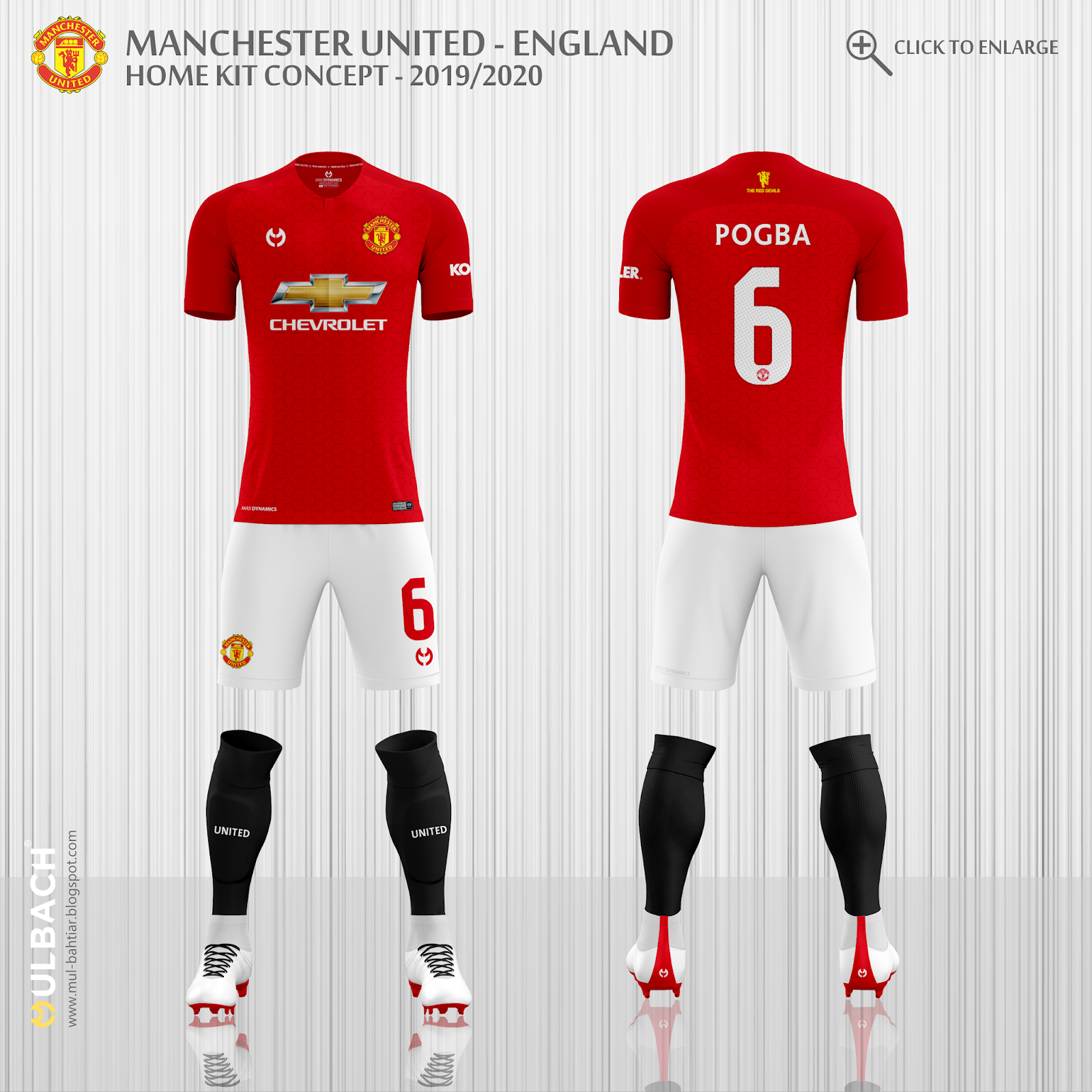 dfb65b6fb8b Manchester United 2019/2020 Home Kit Concept Front and Back View