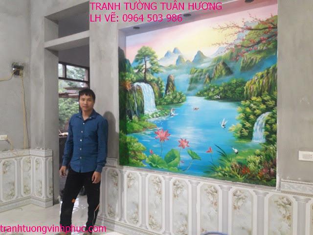 vẽ tranh tường 3d tại hương canh bình xuyên vĩnh phúc2