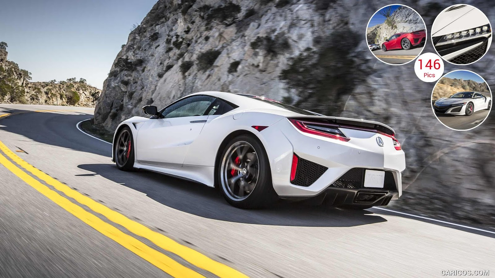 2017 Acura NSX White HD