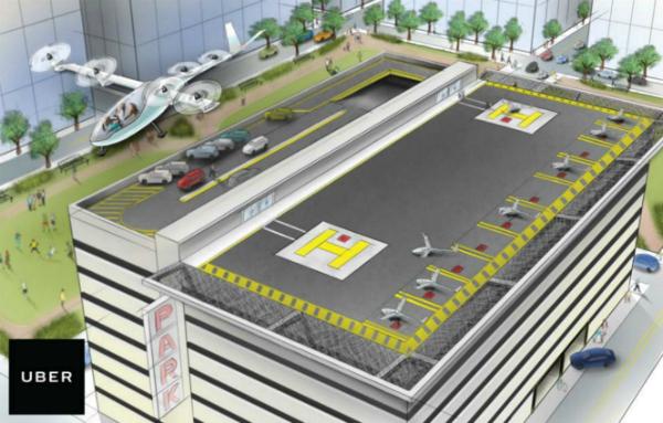 """أوبر تعمل على تطوير مفهوم """"سيارة الأجرة الطائرة"""""""