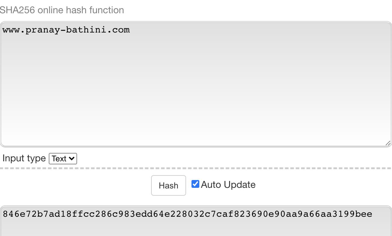 SHA256 Hash Function