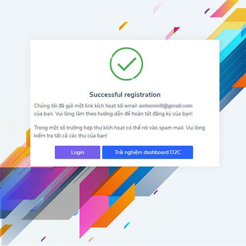 Hoàn thành thông tin đăng ký