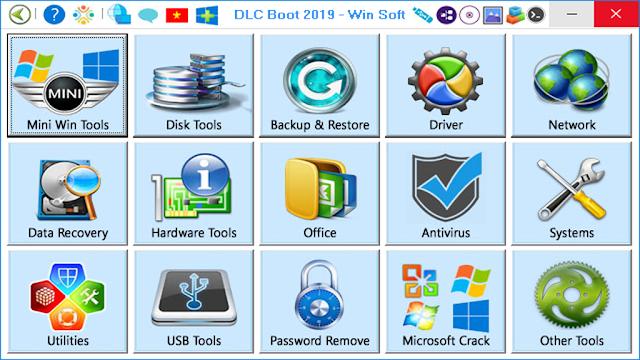 [USB BOOT] DLC 2019 tạo USB Boot cứu hộ máy tính, 2 chuẩn UEFI và LEGACY