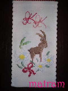cross stitch book mark