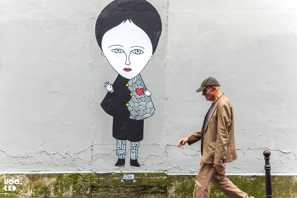 Large scale Paris Street Art by artist fred le chevalier