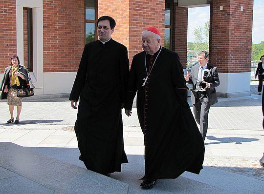 Tego dnia do Sanktuarium Jana Pawła II przybył Kardynał Dziwisz.
