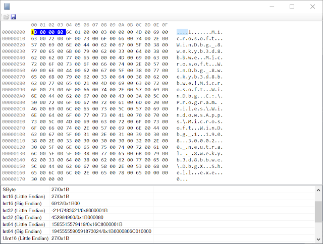 Hex dump of reparse data with highlighted tag.
