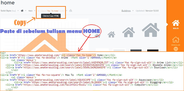 CARA MEMASANG ICON FONT AWESOME DI BLOGSPOT