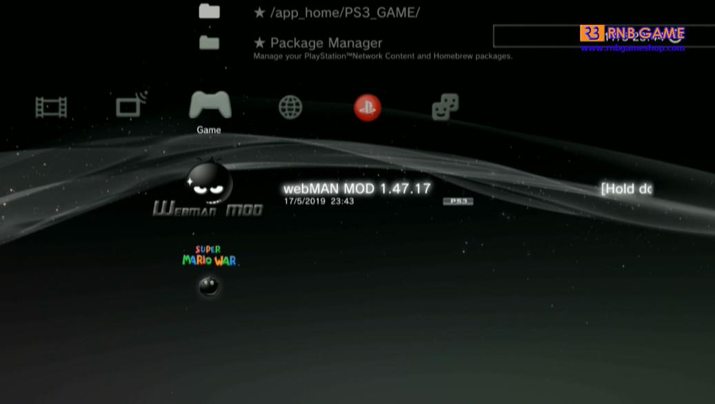 Install Webman_MOD 1 47 17 PS3 HEN v2 0 2 Super Slim - RNB
