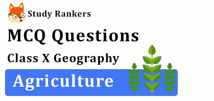 MCQ Questions for Class 10 Geography: Ch 4 Agriculture