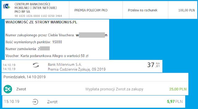 Moje zarabianie na bankach - podsumowanie września 2019
