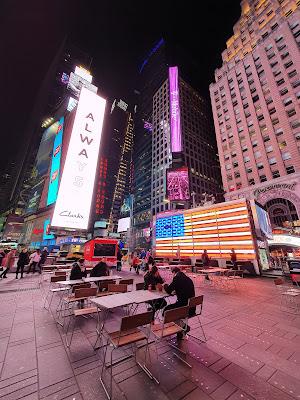 Times Square durante a pandemia
