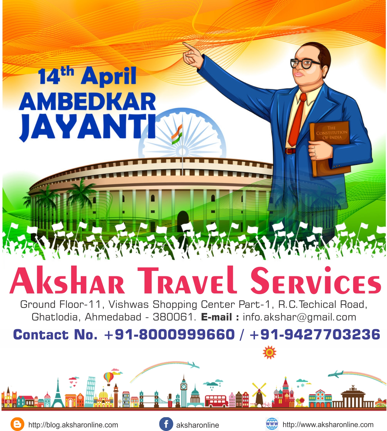 14th April - Ambedkar Jayanti - On the Occasion of Dr Bhimrao Ramji Ambedkar's Birthday, May We Learn From Him the Spirit of Self-confidence and Will to Fight Against Oppression! Happy Ambedkar Jayanti!