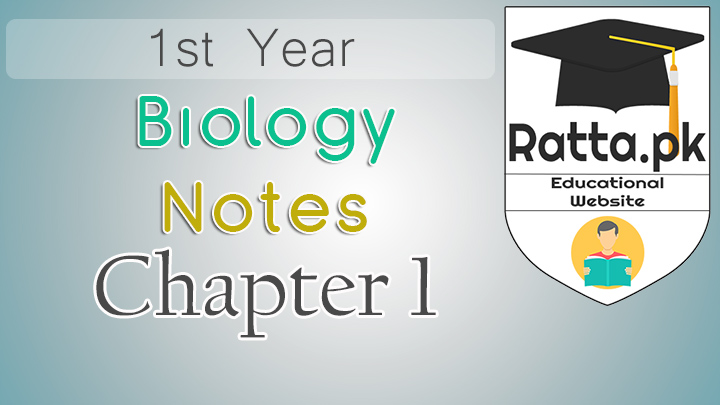 1st Year Biology Notes Chapter 1 Introduction - 11th Class Bio Notes