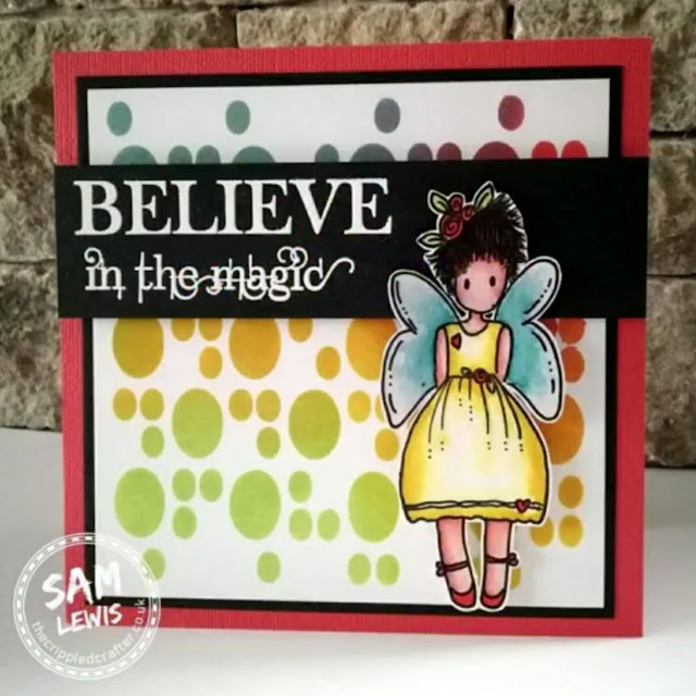 Fabulous Fairy Card by Sam Lewis AKA The Crippled Crafter
