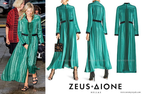 Queen Maxima wore Zeus+Dione Atlantis Silk-Blend Jacquard Maxi Dress