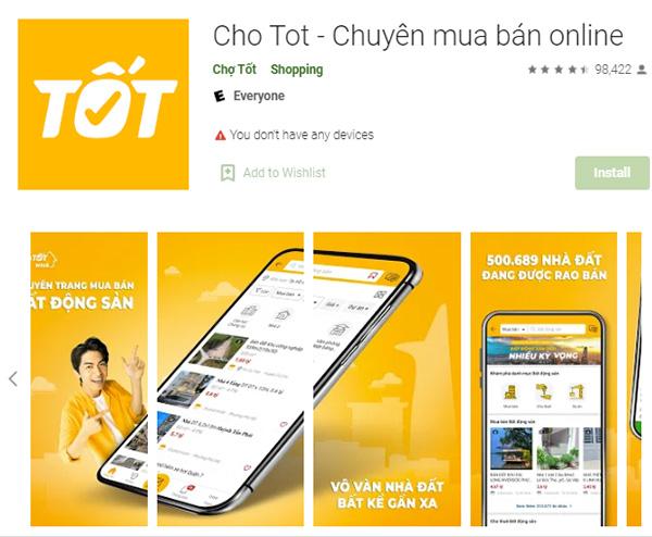 Tải app Chợ Tốt   Ứng dụng chuyên mua bán online trên ChoTot.Com a
