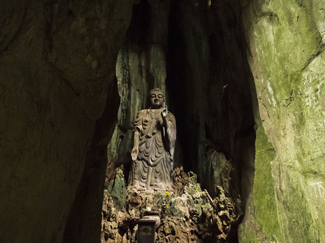 Buddha in the Marble Mountains of Central Vietnam