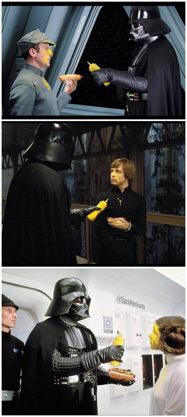 Funny Darth Vader Demonstrates The Power of Mustard Picture Collection