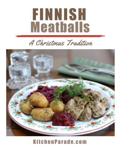 Finnish Meatballs ♥ KitchenParade.com, light and tender meatballs, draped in a cream sauce.