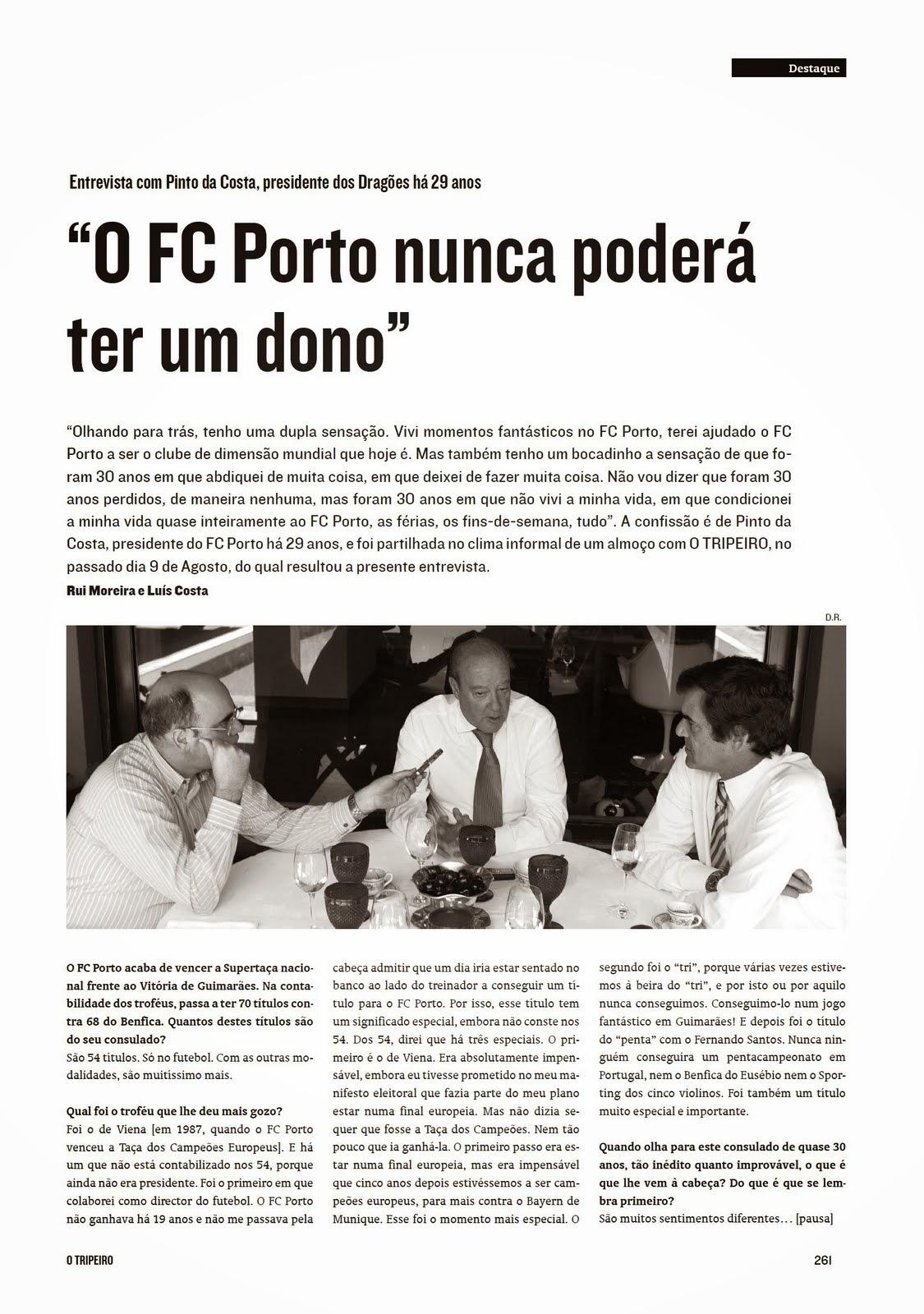 """Reflexão Portista  """"O FC Porto nunca poderá ter um dono"""" 9d9c6820a1a"""