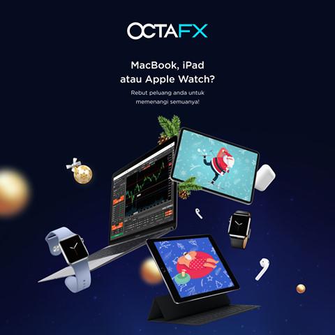 شارك الان فى مسابقة OctaFX واربح ماك بوك او ساعة ابل او ايباد والمزيد