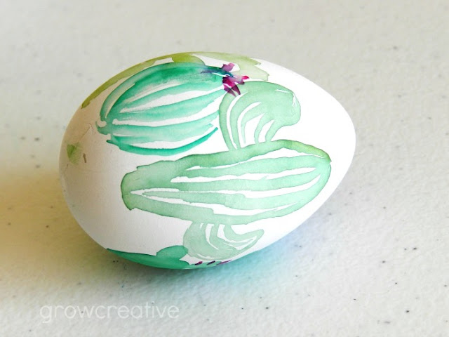 Watercolor Cactus Egg: grow creative blog