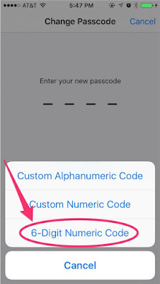 Pastikan passcode selalu dalam keadaan aktif