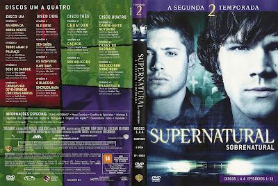 Sobrenatural 2º Temporada Completa DVD Capa