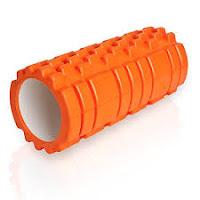 Common example of orange textured foam roller