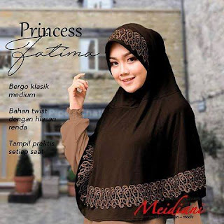 Pakai jilbab praktis Princess Fatima