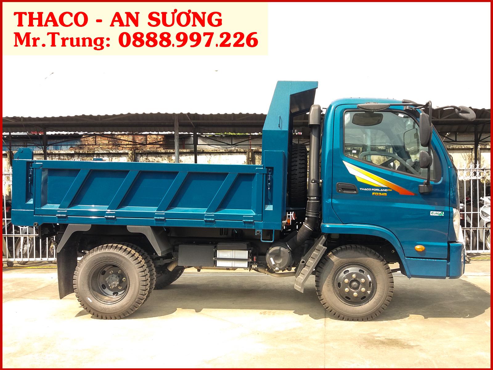 Xe ben Forland Thaco FD345.E4 tải 3,5 tấn / thùng 2,9 khối