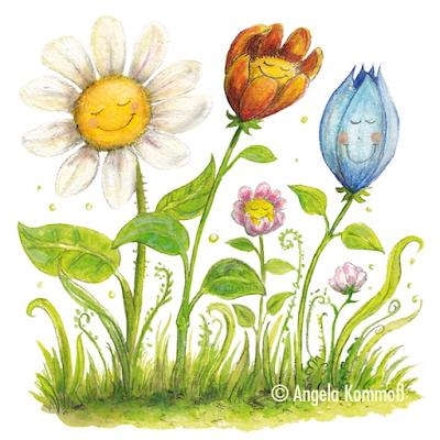 Kinderbuchillustration, Blumen, Blümchen
