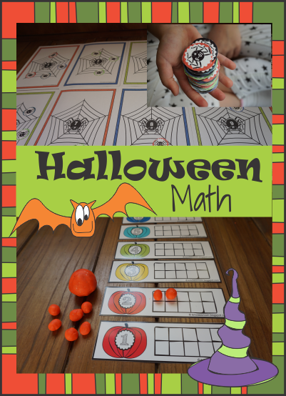 Halloween Math Addition and Subtraction Hands on Activities