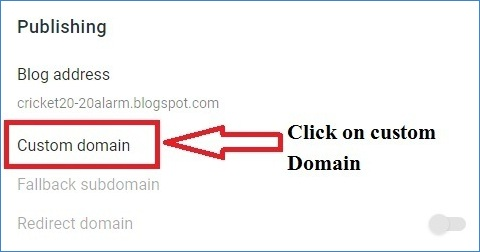 Click To Add Custom Domain