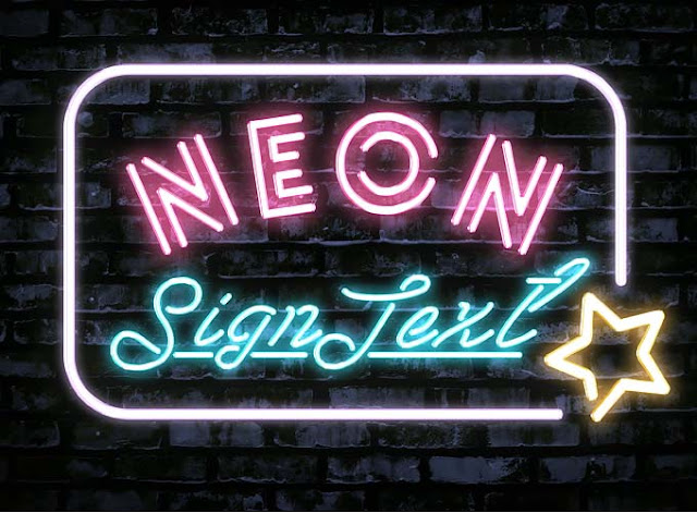 Neon PSD Text Effect