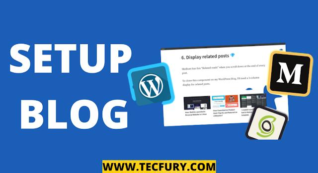 setup blog