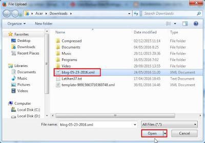 Cara Backup Semua Data Postingan Artikel Blog Terbaru