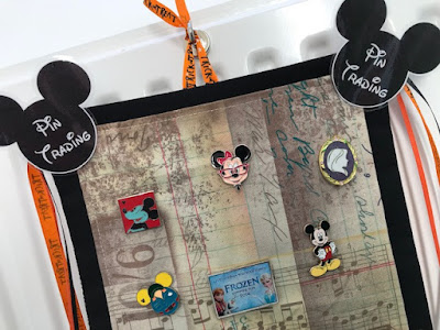 Disney Cruise pin trading board for stateroom