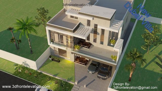 1 Kanal modern House Design PLan DHA