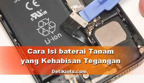 Cara Hidupkan HP Baterai Tanam kehabisan Tegangan