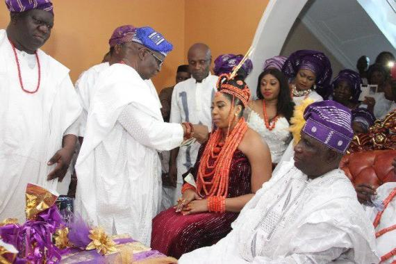photo of ooni of ife wedding to Wuraola Zynab Otiti in Benin