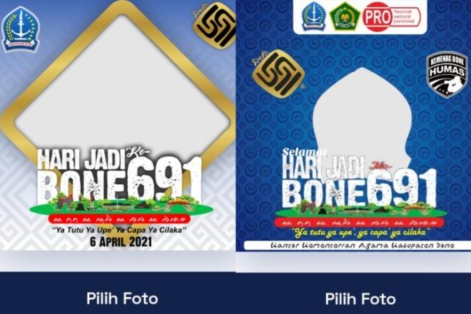 Download Twibbon Bingkai Foto Hari Jadi Bone HJB 691